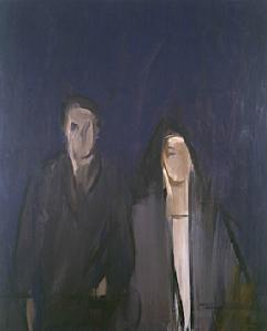 Aguayo, Dedans l'outremer, huile sur toile, 162x130cm, 1974